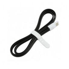 Плоский кабель Lightning/USB магнитный (Чёрный)