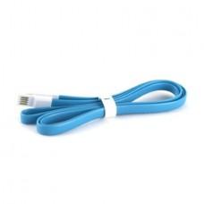 Плоский кабель Lightning/USB магнитный (Синий)