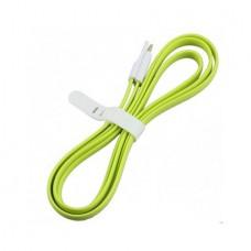 Плоский кабель Lightning/USB магнитный (Зелёный)