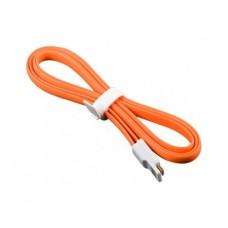 Плоский кабель Lightning/USB магнитный (Оранжевый)