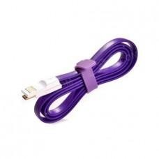 Плоский кабель Lightning/USB магнитный (Фиолетовый)