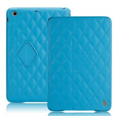 Чехол JisonCase Quilted Smart Cover для iPad mini Retina (Синий)