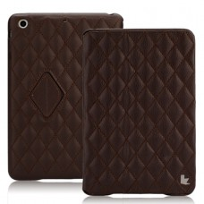Чехол JisonCase Quilted Smart Cover для iPad mini Retina (Коричневый)