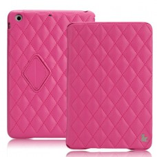 Чехол JisonCase Quilted Smart Cover для iPad mini Retina (Ярко-розовый)