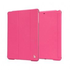 Чехол JisonCase Premium Smart Cover для iPad Air (Ярко-розовый)