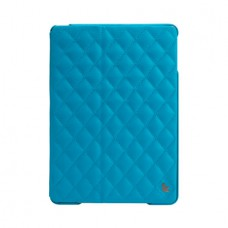 Чехол JisonCase Quilted Leather Smart Case для iPad Air (Синий)