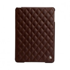 Чехол JisonCase Quilted Leather Smart Case для iPad Air (Коричневый)