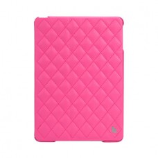 Чехол JisonCase Quilted Leather Smart Case для iPad Air (Ярко-розовый)
