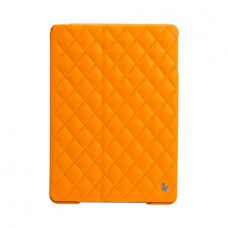 Чехол JisonCase Quilted Leather Smart Case для iPad Air (Жёлтый)